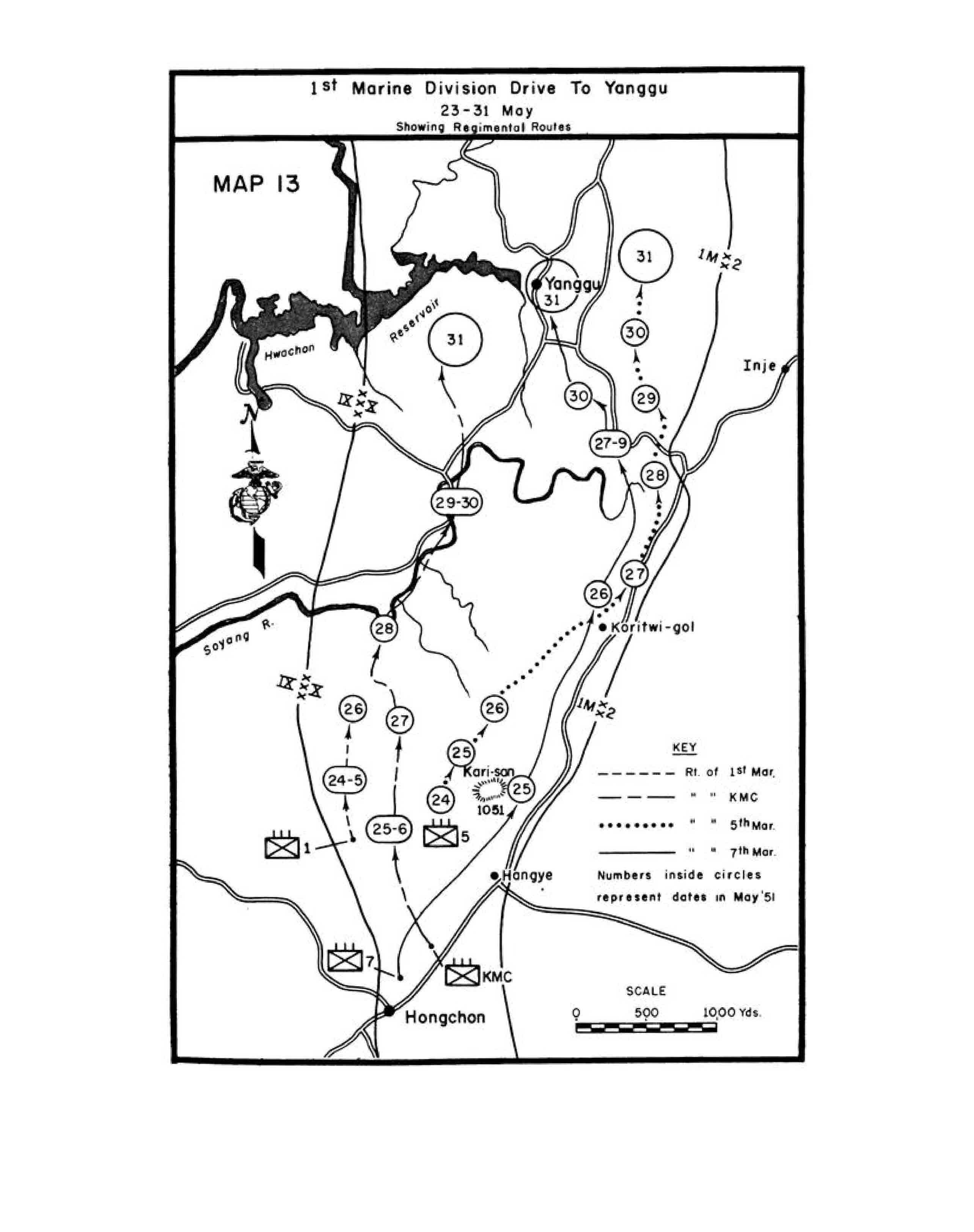 MAP ST MARINE DIVISION DRIVE TO YANGGU MAY - Us 31 project map