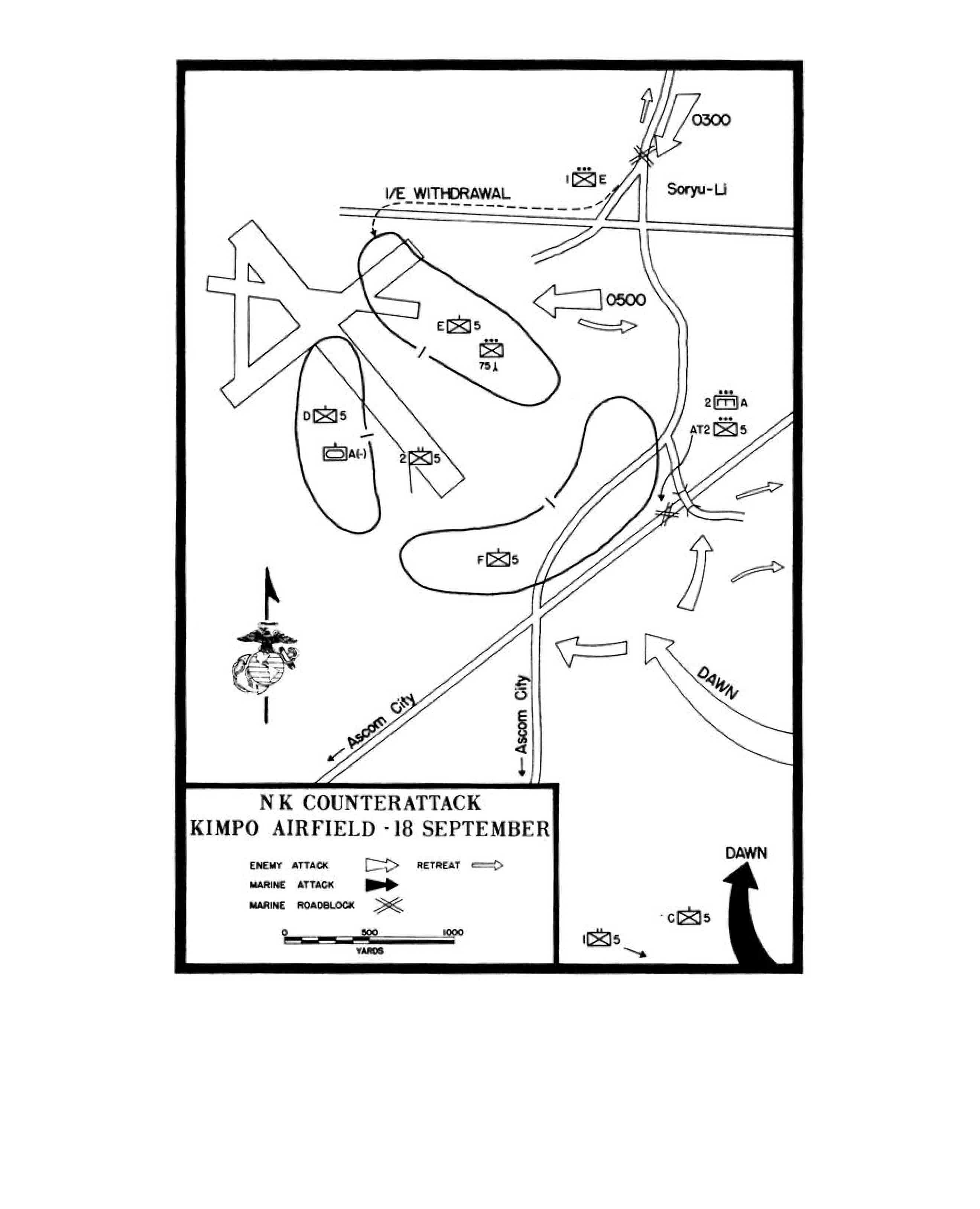 Map 11 Nk Counterattack Kimpo Airfield 18 September 1950