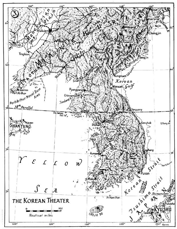 MAP The Korean Theater - Us maps navy
