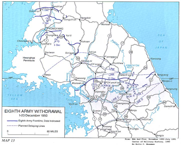 MAP 13 Eighth Army Withdrawal